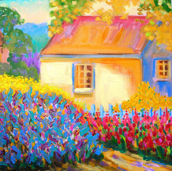 Susi Wall Art - Painting - English Cottage Garden by Susi Franco