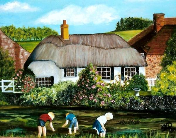 Painting - English Country Cottage Sold by Susan Dehlinger