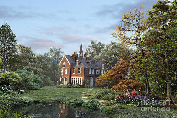 Country House Digital Art - English Garden by MGL Meiklejohn Graphics Licensing