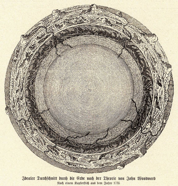 Lava Drawing - English Geologist John  Woodward's by Mary Evans Picture Library