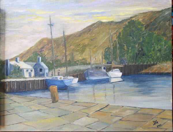 Painting - English Harbour by DG Ewing