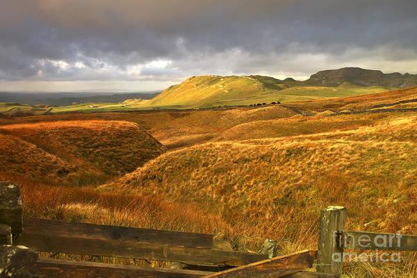 English Moorland Landscape Art Print