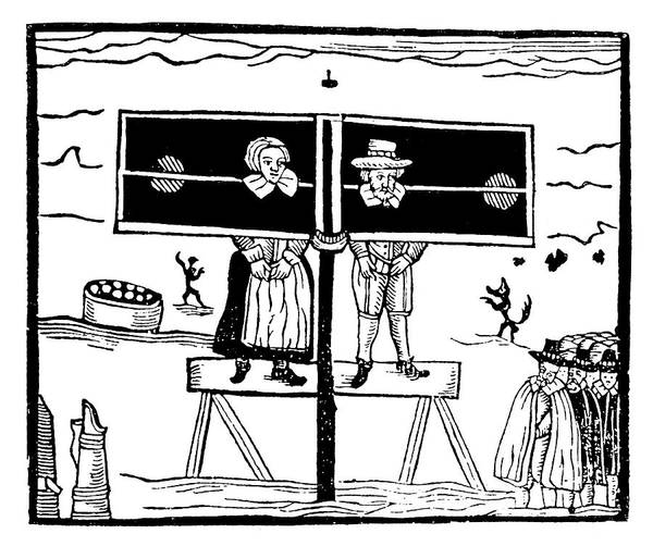 Painting - English Pillory by Granger