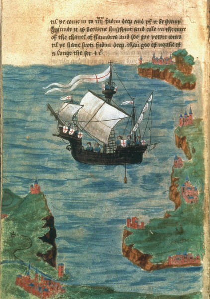 Wall Art - Painting - English Ship, C1450 by Granger