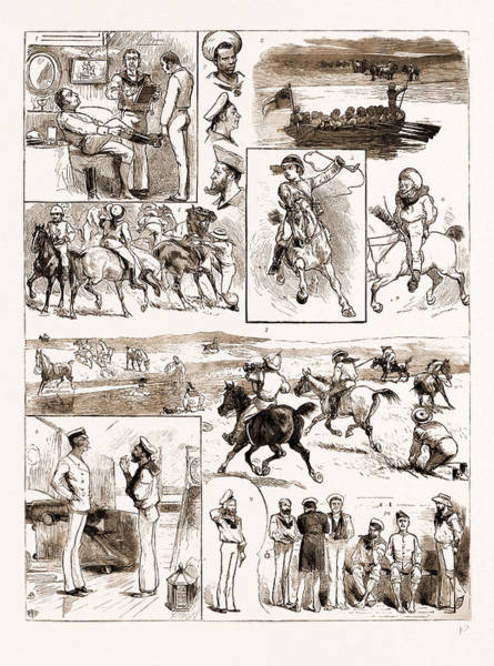 Wall Art - Drawing - English Sports Abroad, A Naval Paper-chase At Maldonado by Litz Collection