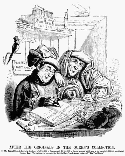 Painting - English Tax Cartoon, 1843 by Granger