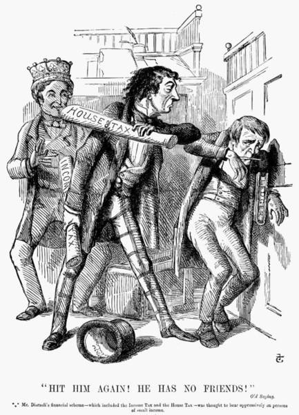 Painting - English Tax Cartoon, 1852 by Granger