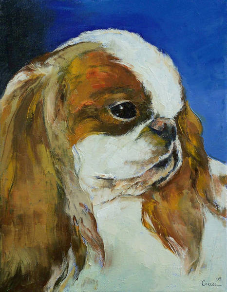 Hund Wall Art - Painting - English Toy Spaniel by Michael Creese