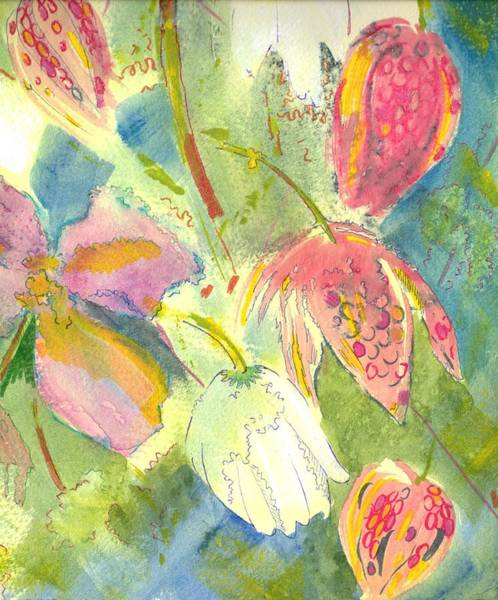 Painting - English Wild Flowers Painting by Mike Jory