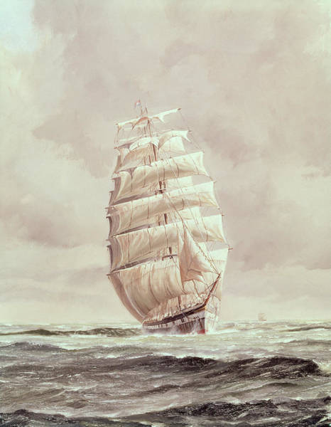 Wall Art - Painting - English Wool Clipper by Anonymous