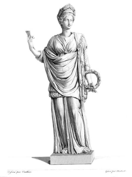Fertility Painting - Engraving Marble Statue Ceres Roman by Vintage Images
