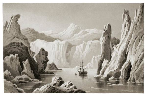 Wall Art - Photograph - Engraving Of Arctic Exploration by David Parker/science Photo Library