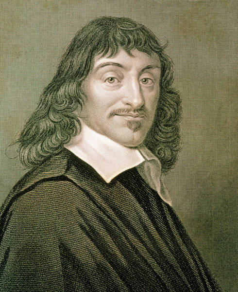 Philosopher Wall Art - Photograph - Engraving Of French Mathematician Rene Descartes by Sheila Terry/science Photo Library
