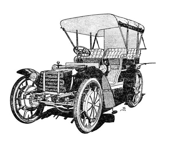 Ferdinand Photograph - Engraving Of The Lohner-porsche Car Of 1901 by Science Photo Library