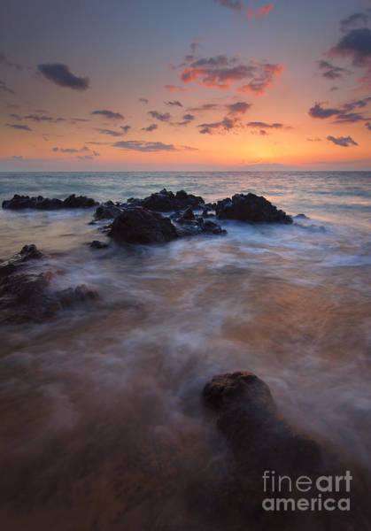 Maui Sunset Photograph - Engulfed By The Waves by Mike  Dawson