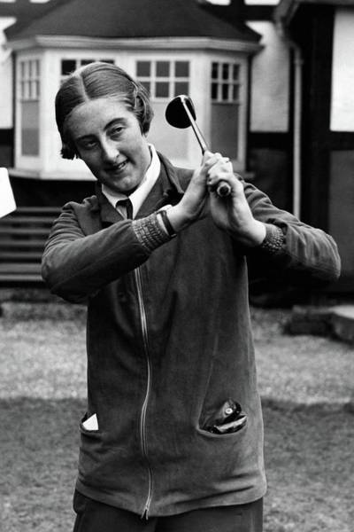 Golf Club Photograph - Enid Wilson Holding A Golf Club by Wide World Photos