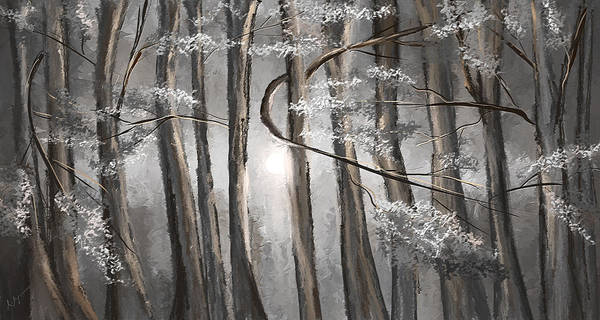 Painting - Enigmatic Woods- Shades Of Gray Art by Lourry Legarde