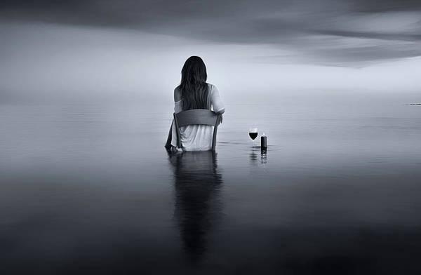 Glass Photograph - Enjoy The Silence by Maria Kaimaki