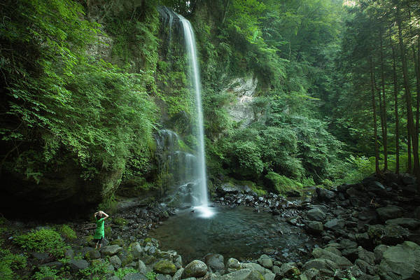 Multi Exposure Photograph - Enjoying A Waterfall In Lush Forest by Ippei Naoi