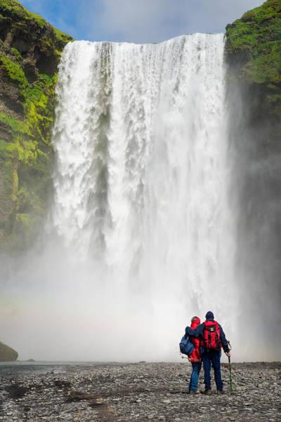 Photograph - Enjoying Skogafoss Waterfall In Iceland by Matthias Hauser