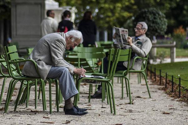 Photograph - Enjoying The Park by Sven Brogren