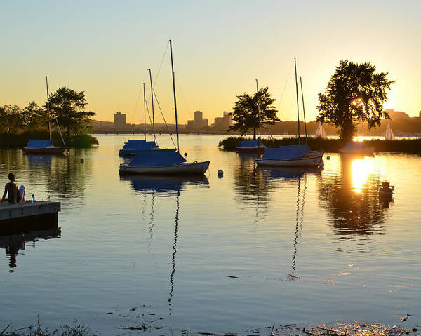 Photograph - Enjoying The Sunset On The Charles River In Boston by Toby McGuire