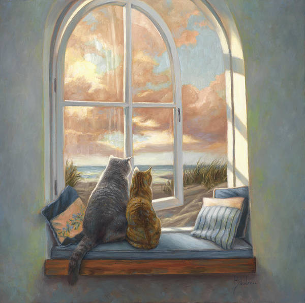 Painting - Enjoying The View by Lucie Bilodeau