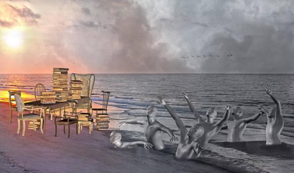 Pelican Mixed Media - Enlightening  by Betsy Knapp