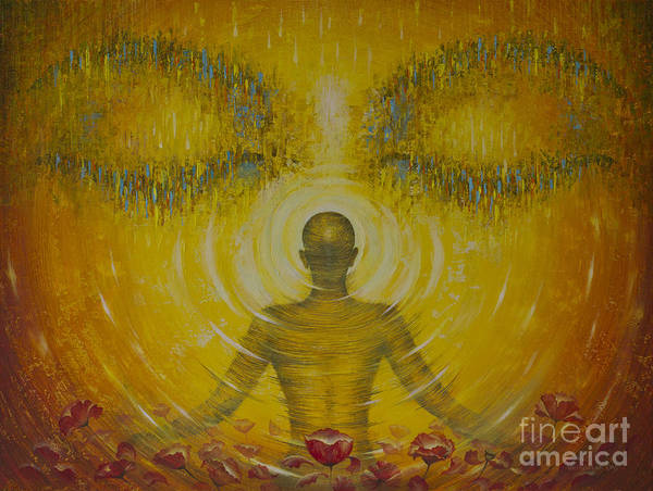 Wall Art - Painting - Enlightenment by Vrindavan Das