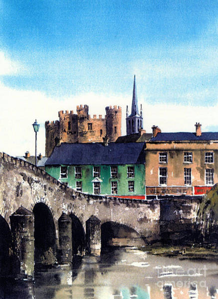 Mixed Media - Enniscorthy  Wexford by Val Byrne