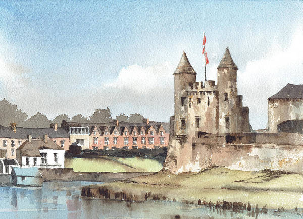 Painting - Enniskillen Castle Fermanagh by Val Byrne