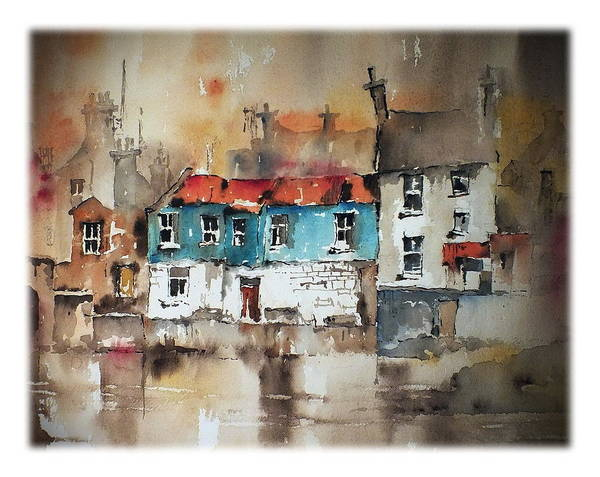 Painting - Ennistymon Backwater Clare by Val Byrne