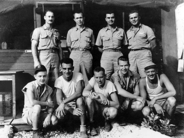 Wall Art - Photograph - Enola Gay Crew, 1945 by Science Source
