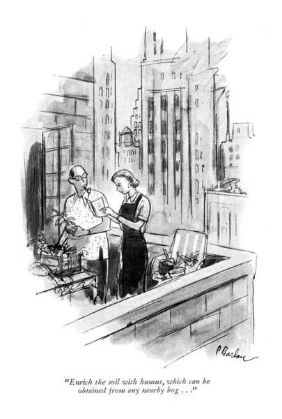 Manhattan Drawing - Enrich The Soil With Humus by Perry Barlow