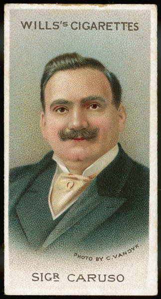 Wall Art - Drawing - Enrico Caruso  Italian Opera Singer by Mary Evans Picture Library