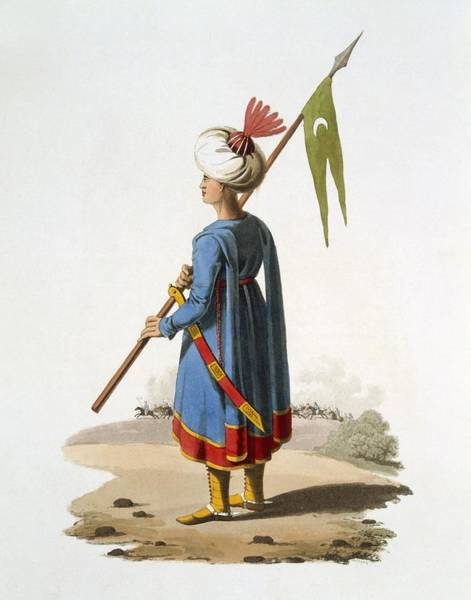 Empire Drawing - Ensign Bearer Of The Spahis, 1818 by English School