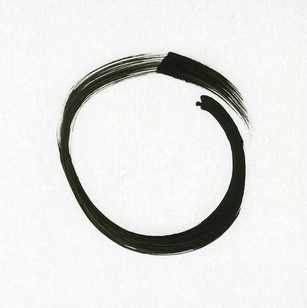 Heal Wall Art - Painting - Enso #1 - Zen Circle Minimalistic Black And White by Marianna Mills