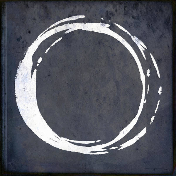 Wall Art - Painting - Enso No. 107 Blue by Julie Niemela