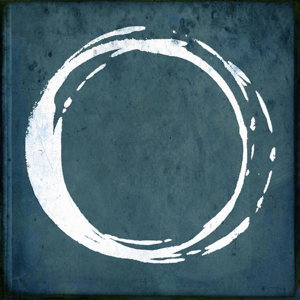 Wall Art - Painting - Enso No. 107 Cyan by Julie Niemela