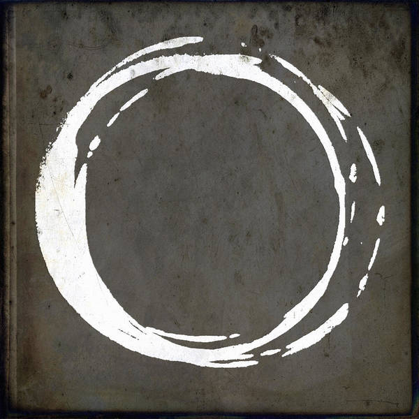 Art Nouveau Wall Art - Painting - Enso No. 107 Gray Brown by Julie Niemela