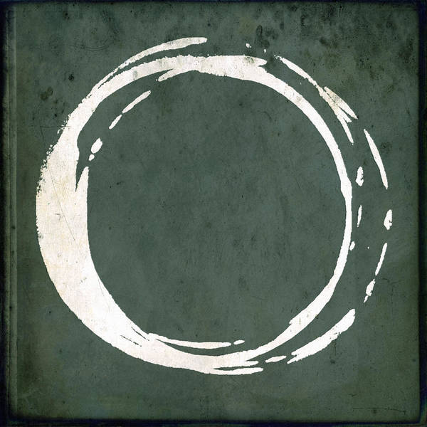Artistic Painting - Enso No. 107 Green by Julie Niemela