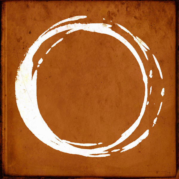 Universe Painting - Enso No. 107 Orange by Julie Niemela