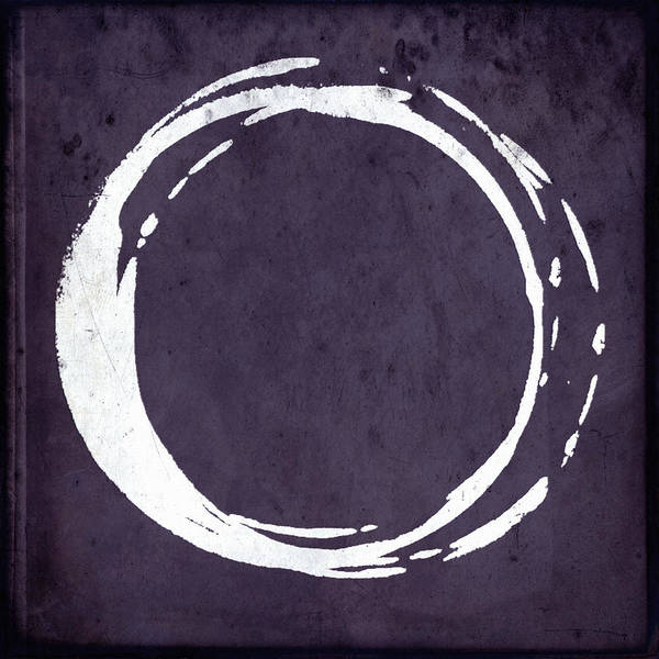 Wall Art - Painting - Enso No. 107 Purple by Julie Niemela