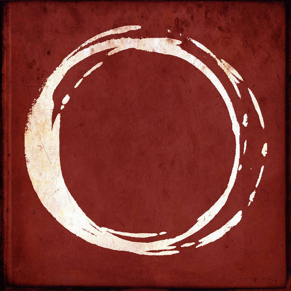 Wall Art - Painting - Enso No. 107 Red by Julie Niemela