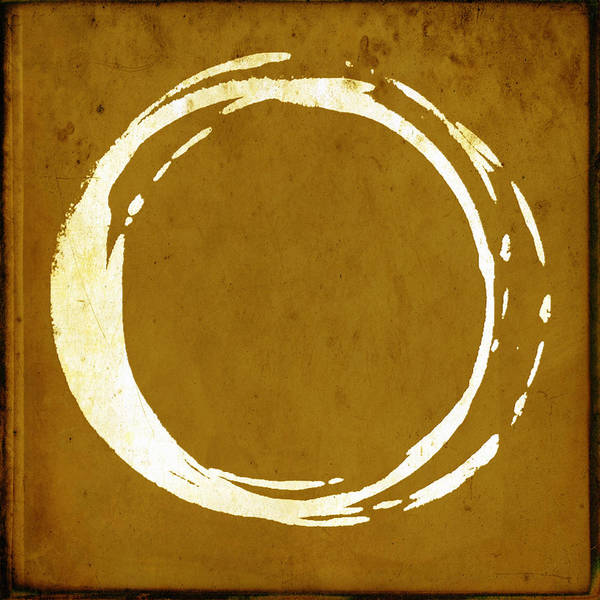 Wall Art - Painting - Enso No. 107 Saffron by Julie Niemela