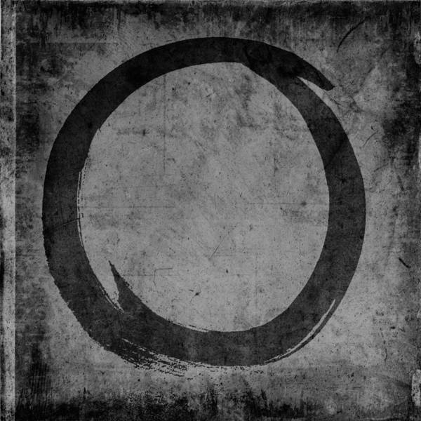 Wall Art - Painting - Enso No. 108 Black On Gray by Julie Niemela