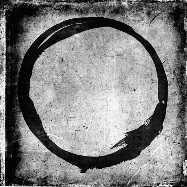 Wall Art - Painting - Enso No. 109 Black On White by Julie Niemela