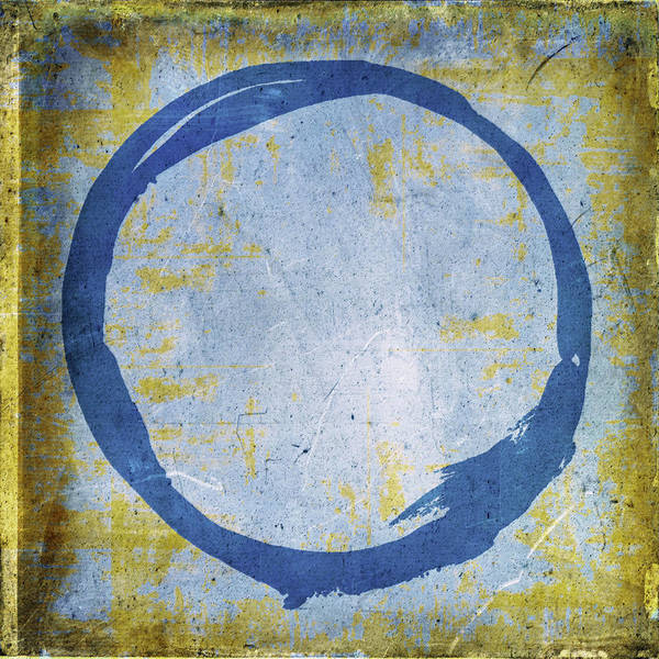 Wall Art - Painting - Enso No. 109 Blue On Blue by Julie Niemela