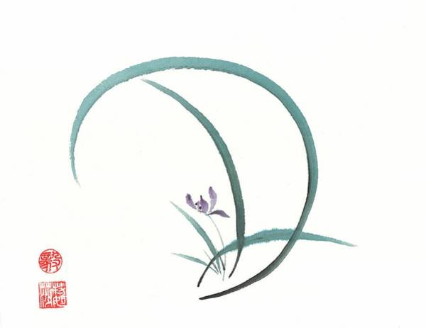 Wall Art - Painting - Enso Orchid by Terri Harris