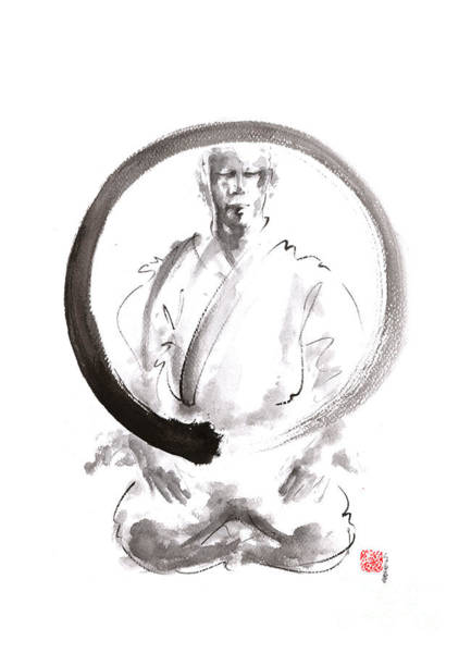 Wall Art - Painting - Enso. Zen Circle Martial Arts. by Mariusz Szmerdt